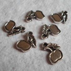 Antique Silver Charms ~ Apple