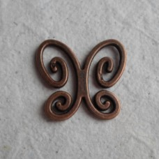 Red Copper Charms ~ Butterfly