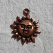 Red Copper Charms ~ Sun