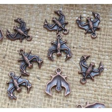 Red Copper Charms ~  Bat
