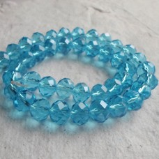 Glass Abacus Faceted ~  Aqua ~ Pack 20
