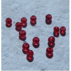 Crackle Bead 4mm Red